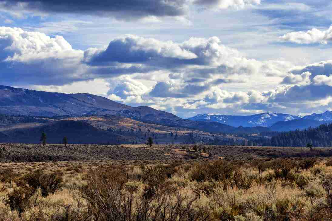 Print of Clouds and Open Fields in South Carson Valley Photo
