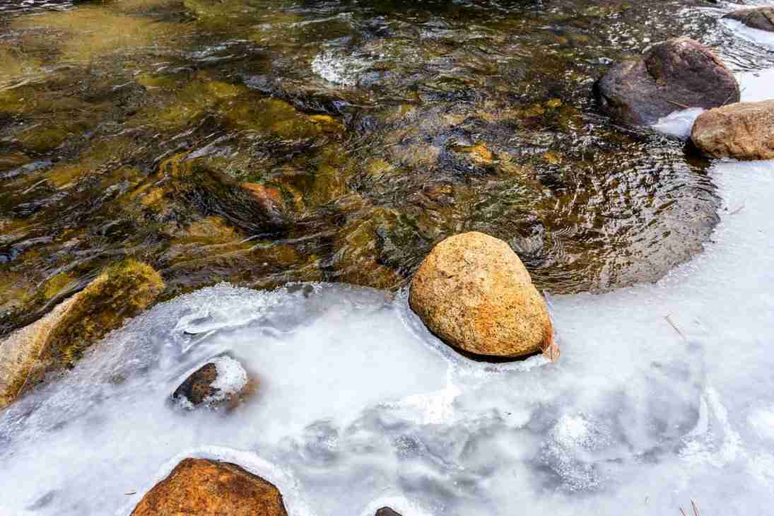 Print of Ice Covered Stream Near South Tahoe Photo