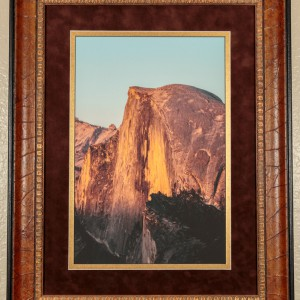 Fine Art Framed Photograph of Half Dome in Yosemite at Sunset