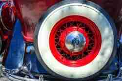 Print of a 1940's Roadster Spare Wheel Photo