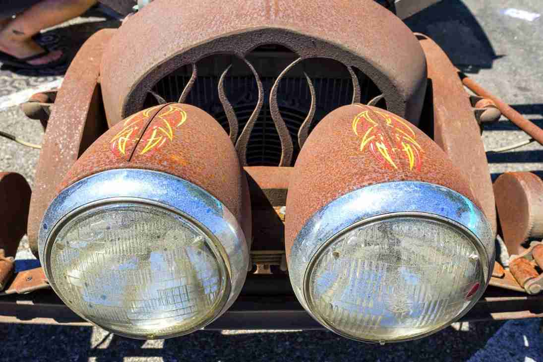 Print of Headlights from a Custom Car Photo