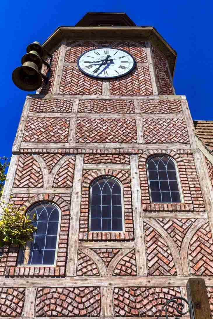 Print of Clock Tower in Solvang California Photo