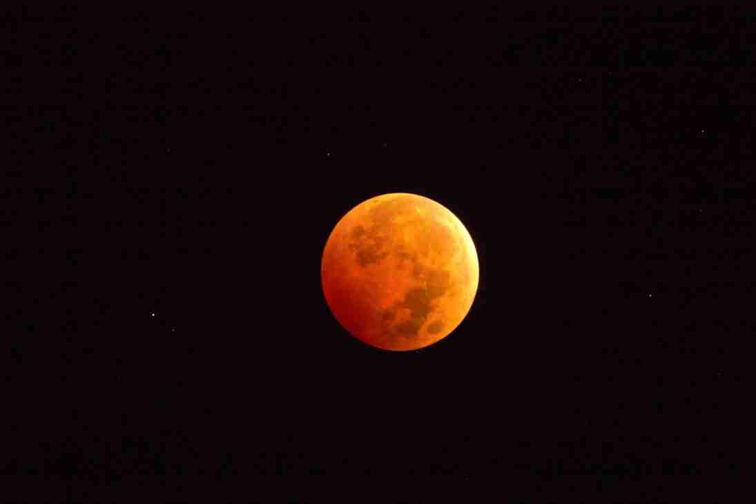 Print of the Blood Red Moon during a 2014 Lunar Eclipse Photo