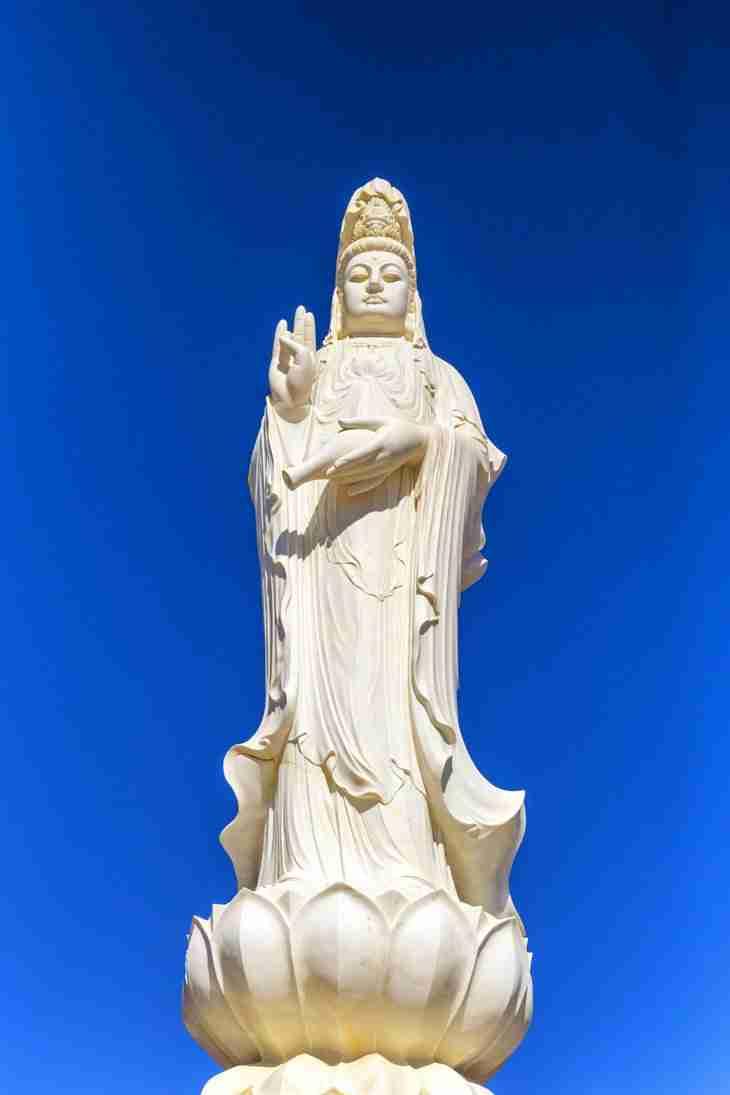 Print of a Statue of the Female Buddhist Goddess Kwan Yin Photo