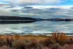 Print of Mono Lake Shoreline and Reflection of Clouds Photo