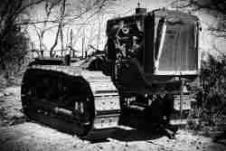 Print of a Rusty 1940's Caterpillar Tractor Photo