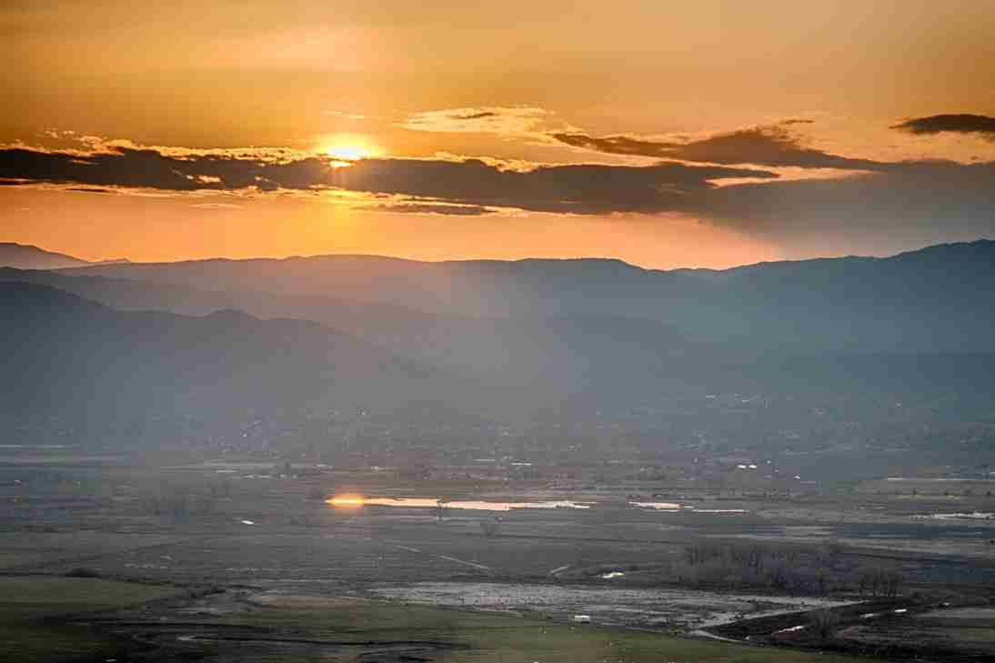 Print of an April 2015 Sunrise over Carson Valley Photo