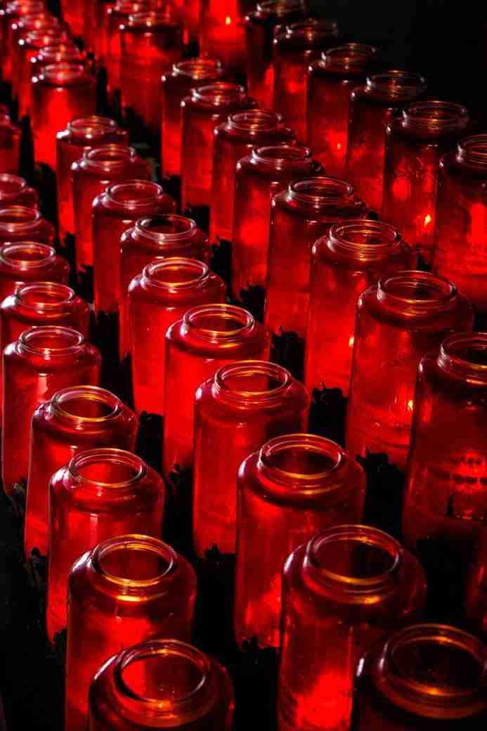 Print of Candles at Mission San Juan Capistrano