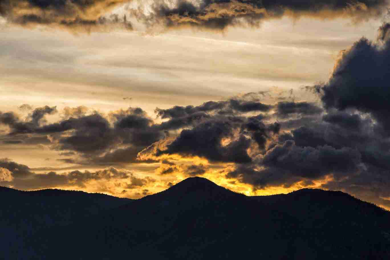 Print of Fire Like Sunset over Carson Valley