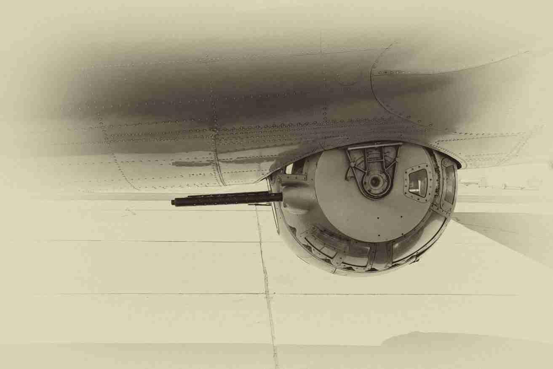 Print of a B-17G Flying Fortress Bottom Machine-Gun Turret