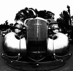 Black & White Print of a Classic 1940's Chevrolet Car