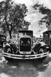 Black & White Print of a Classic Chevrolet Car