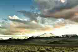 Print of Snow Capped Nevada Mountains at Sunset