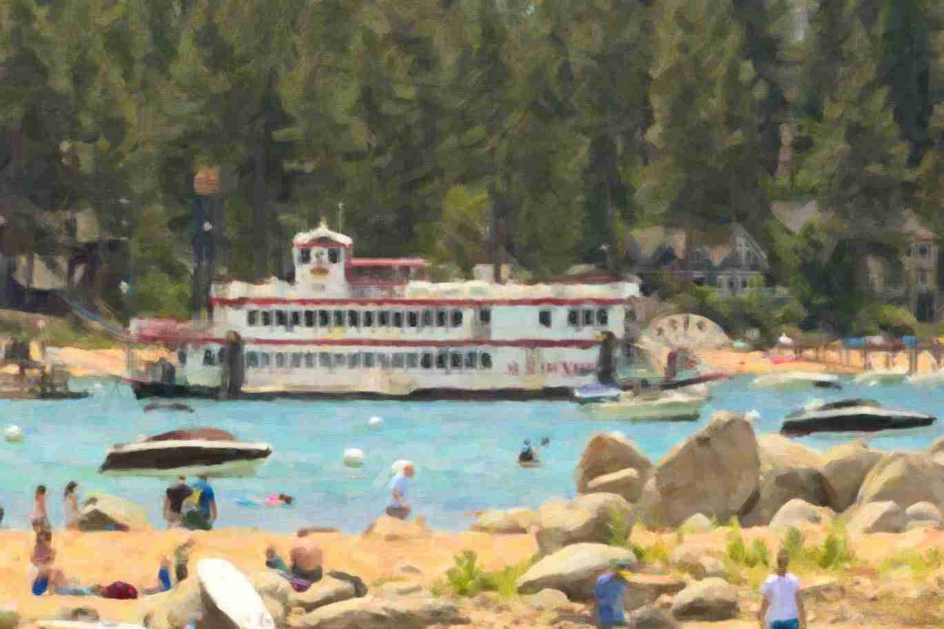 Print of a Summer Day at Lake Tahoe