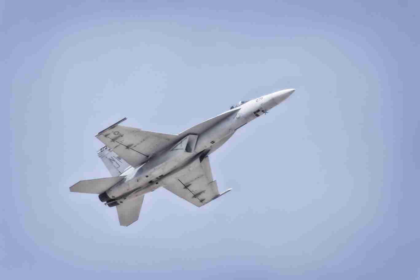 F/A-18 Super Hornet Flying Upward