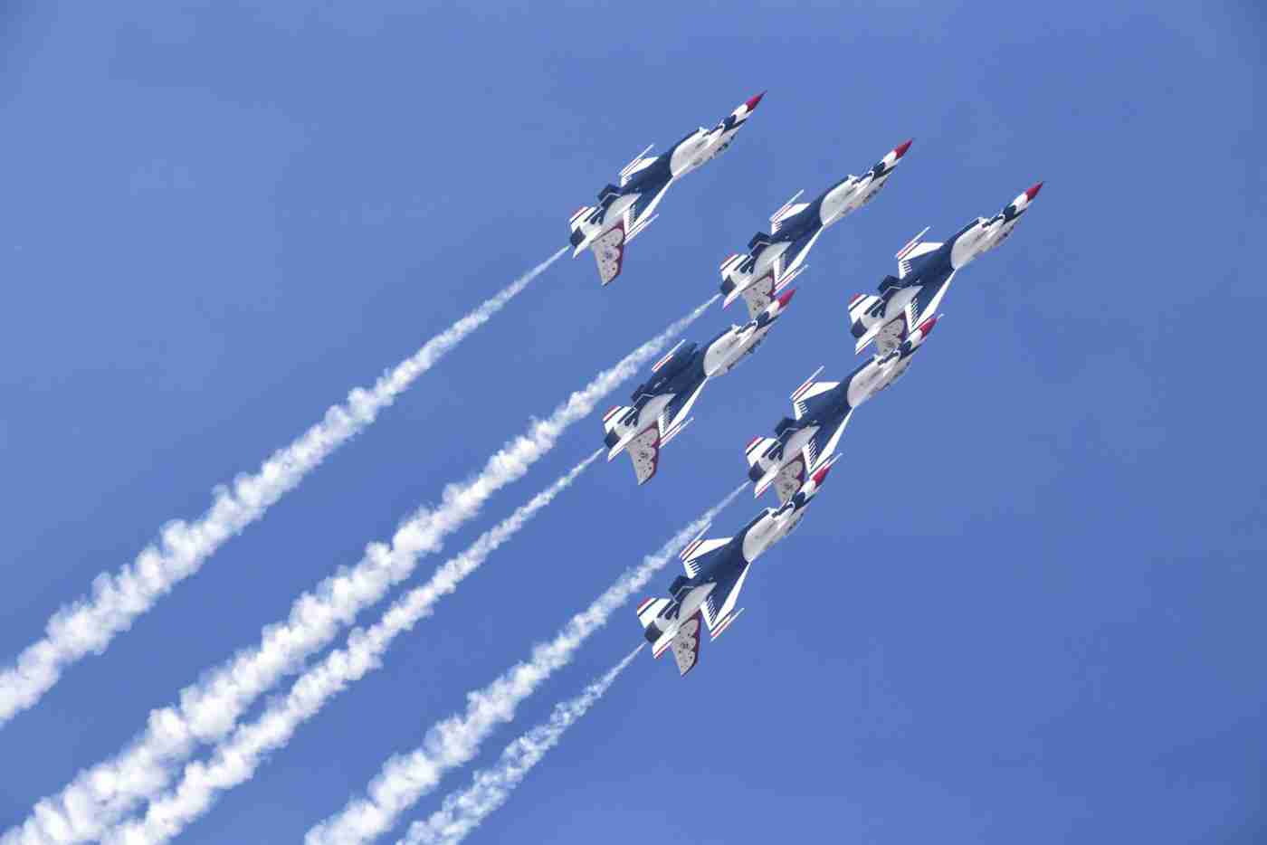 Air Force Thunderbird F-16 Inverted Delta Formation
