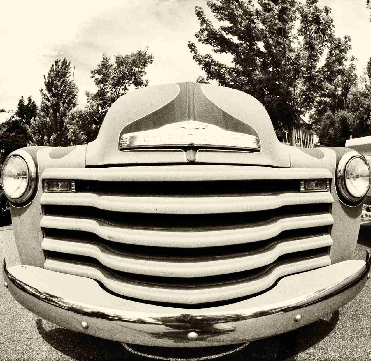 Sepia Print of Classic 1940's Chevrolet