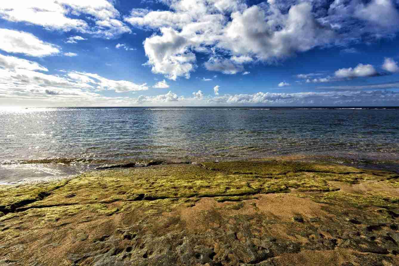 Print of the Beaches and Sky of the Island of Kauai Hawaii