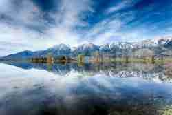 Print of Carson Mountain Range Reflected in a Flooded Field in Carson Valley
