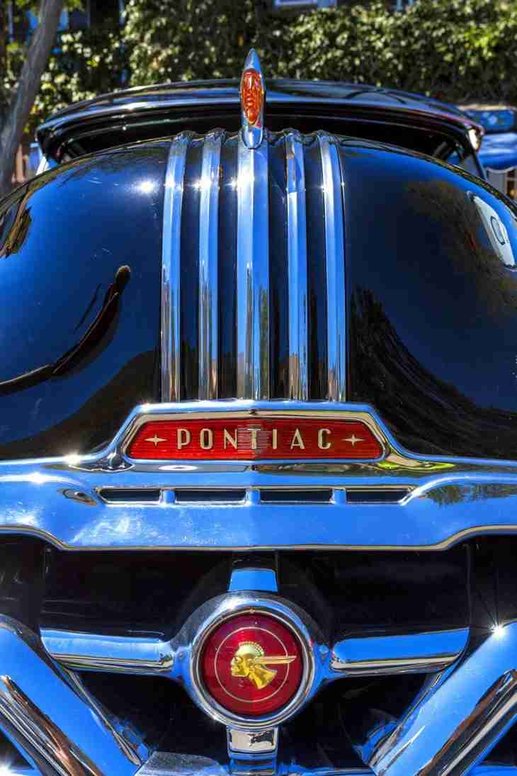 Print of the Front of a 1940's Pontiac Photo