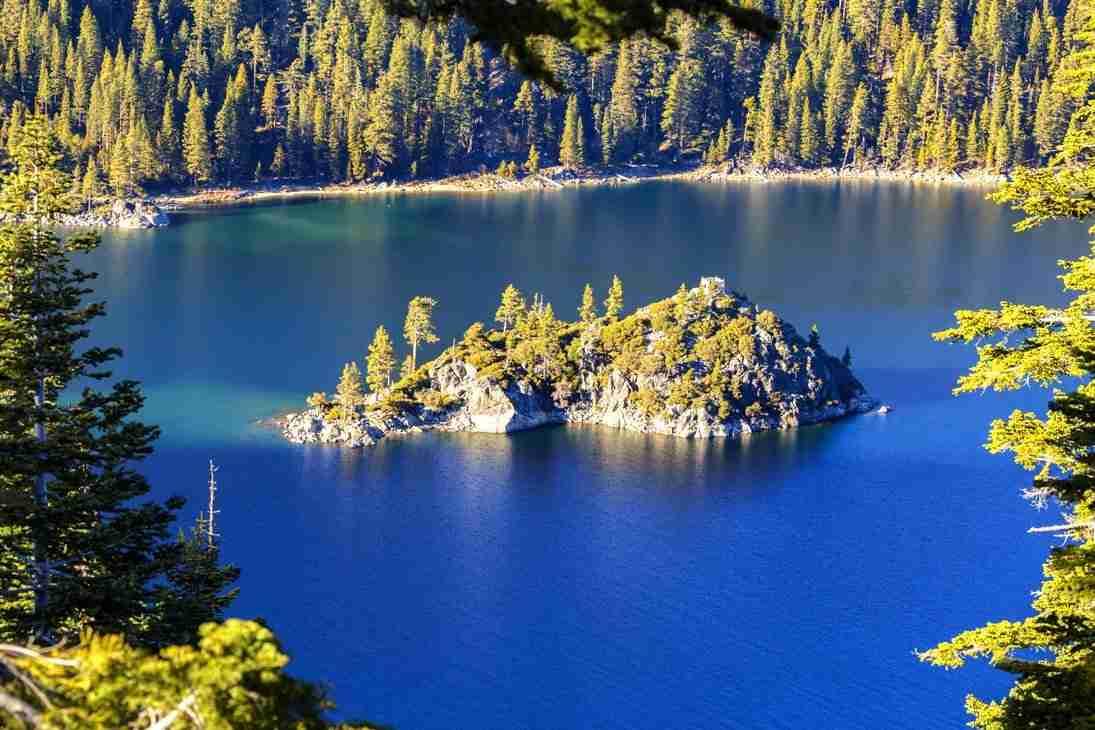 Print of Fannette Island in Lake Tahoe Photo