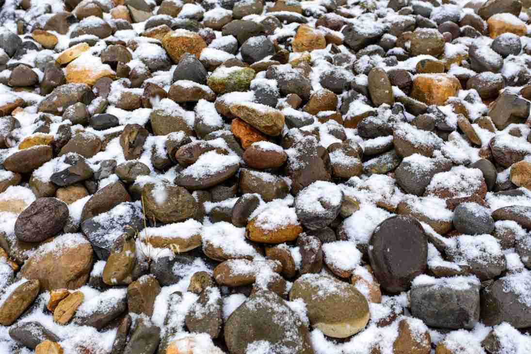 JMC_1214_4414 Print of Snow Laced Bed of Rocks in Carson Valley Photo