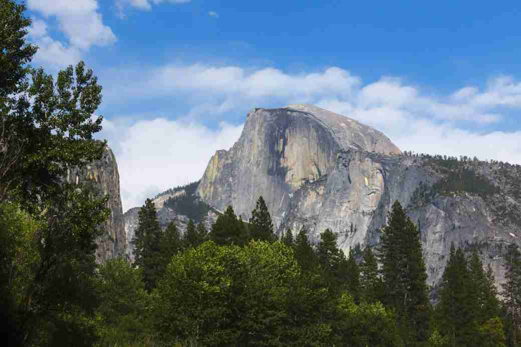 Photo of Half-Dome During Spring at Yosemite