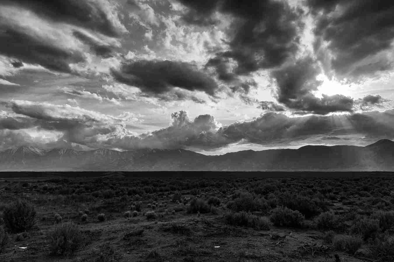Print of Clouds Covering the Sun in Carson Valley
