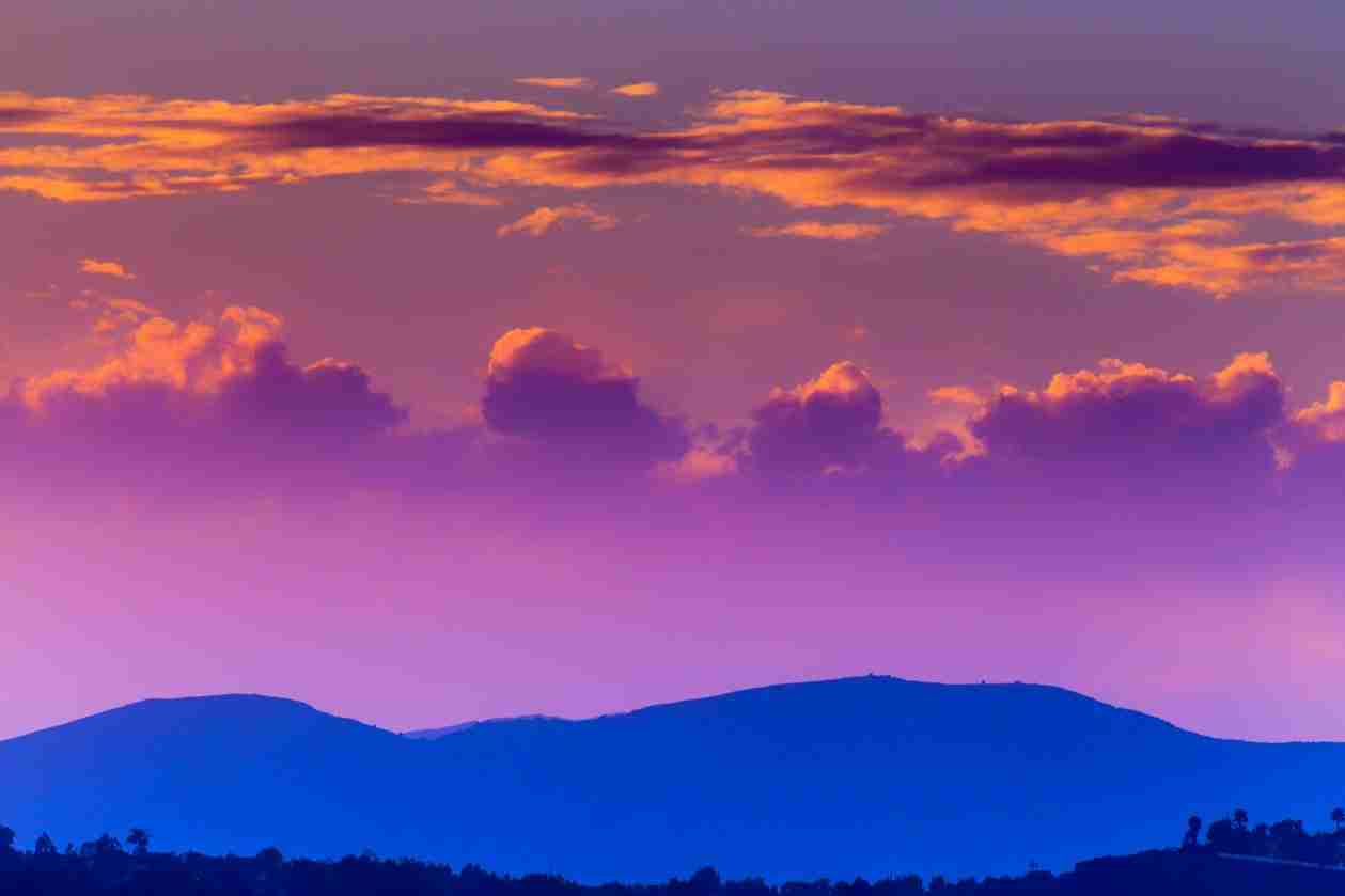 Print of a Blue, Purple and Magenta Skies at Sunset