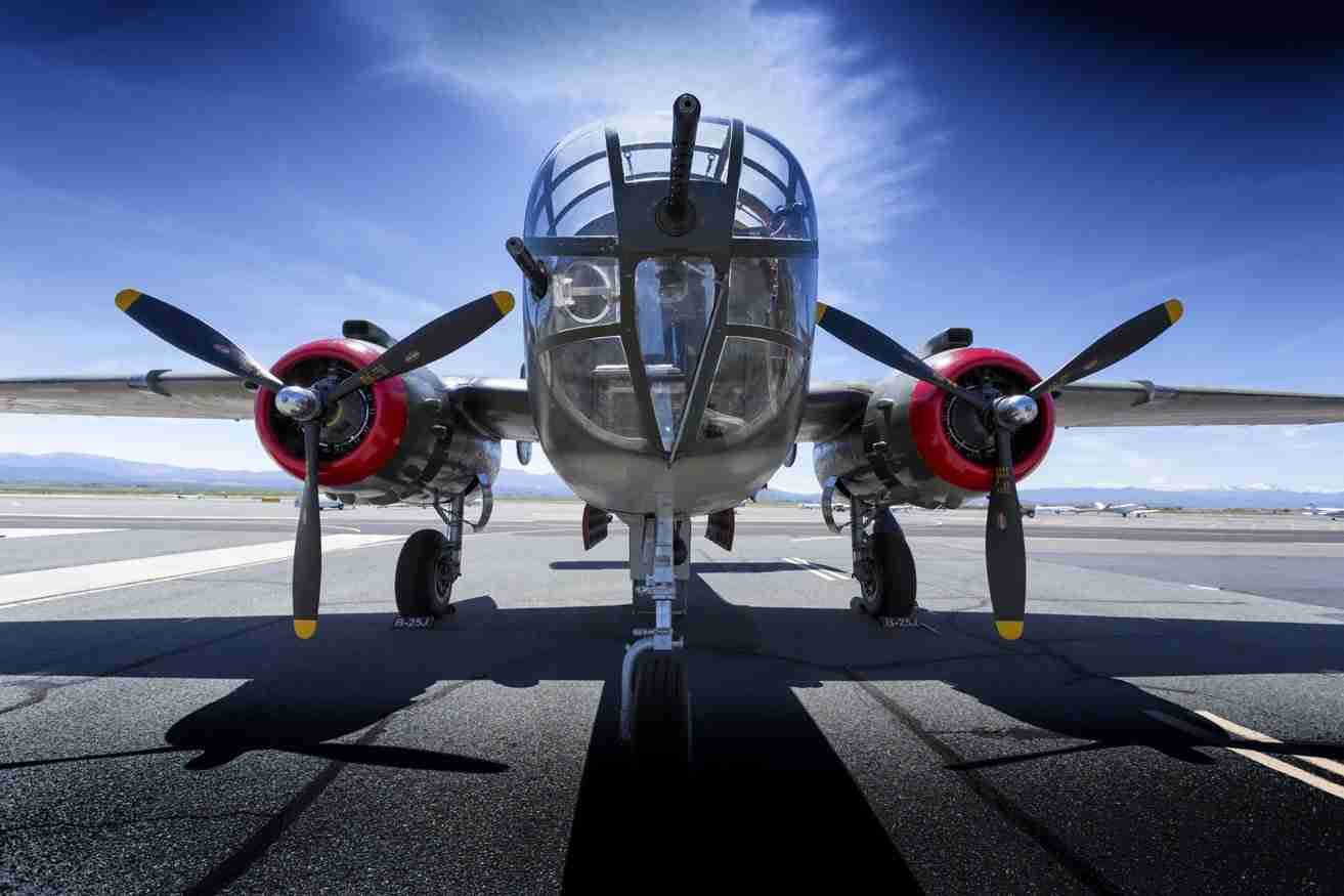 Print of a B-25 Mitchell Airplane
