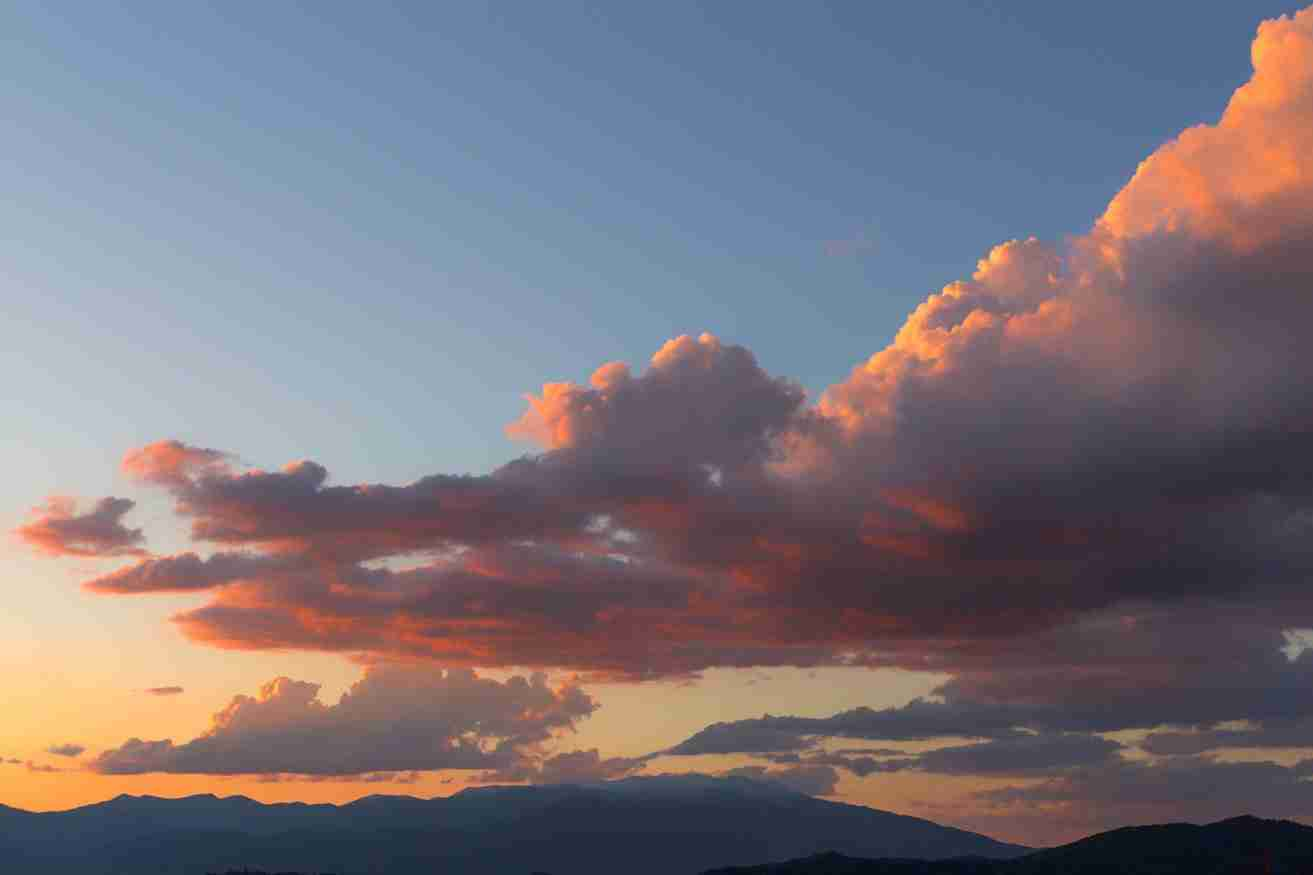 Print of Multicolored Clouds over the Sierras at Sunset