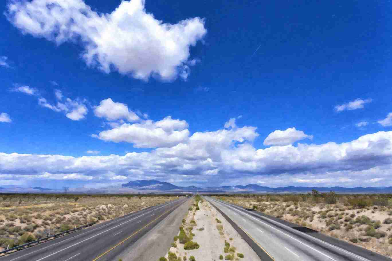 Print of Highway 15 En-route to Las Vegas