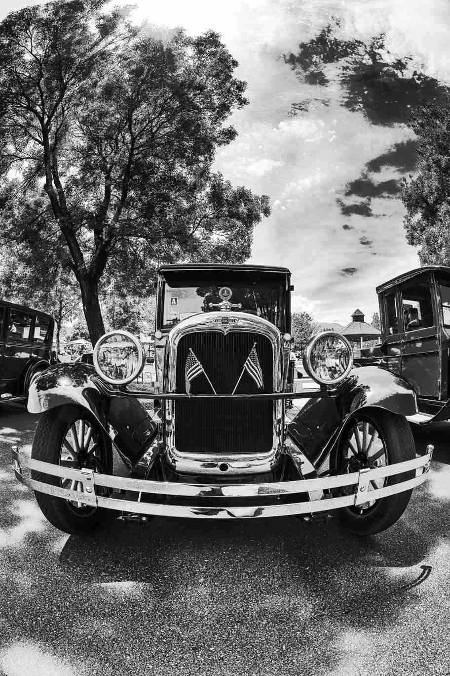 Black & White Print of a Classic Chevrolet Car