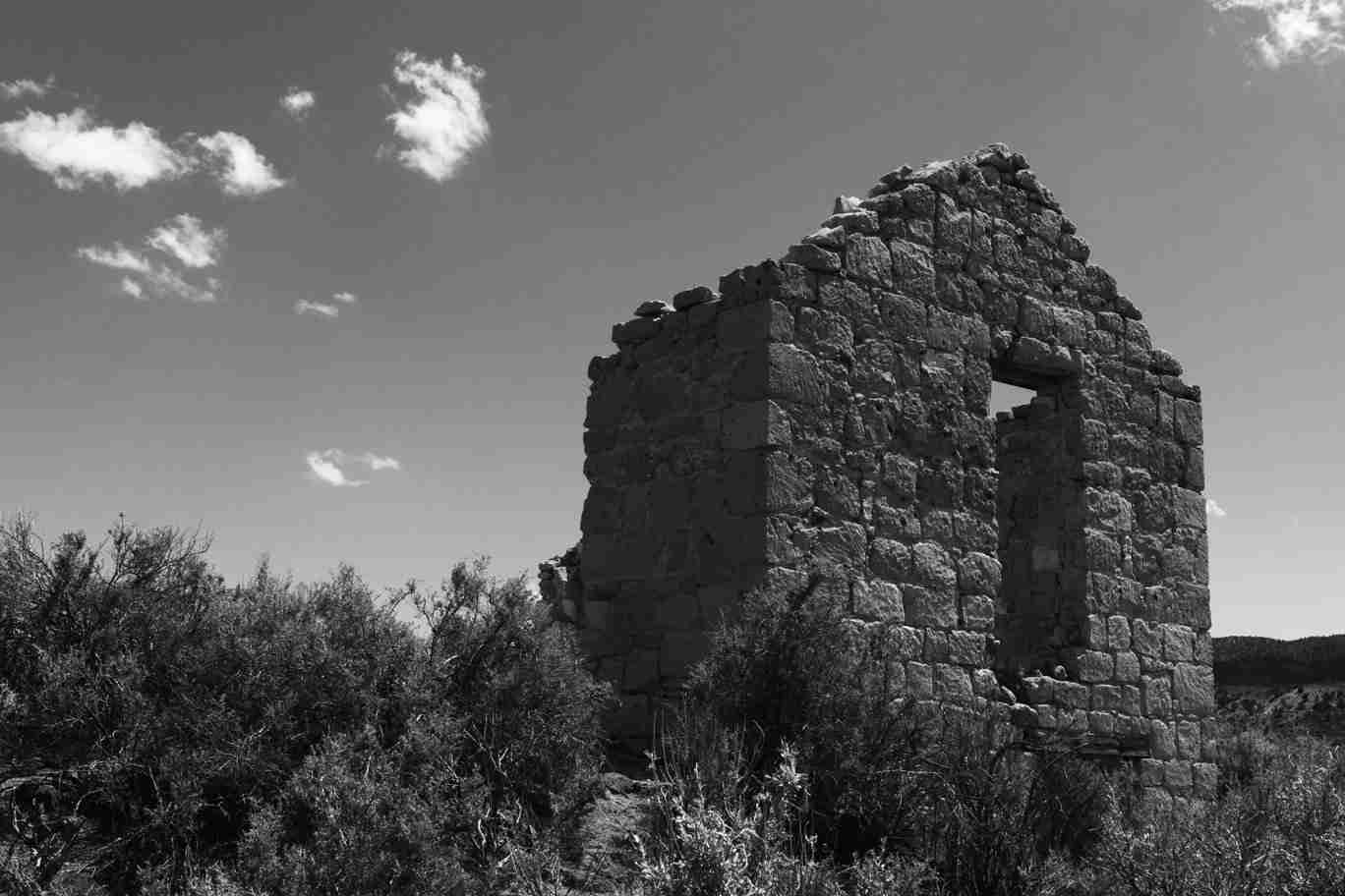 Print of an Abandoned Building in the Nevada Desert