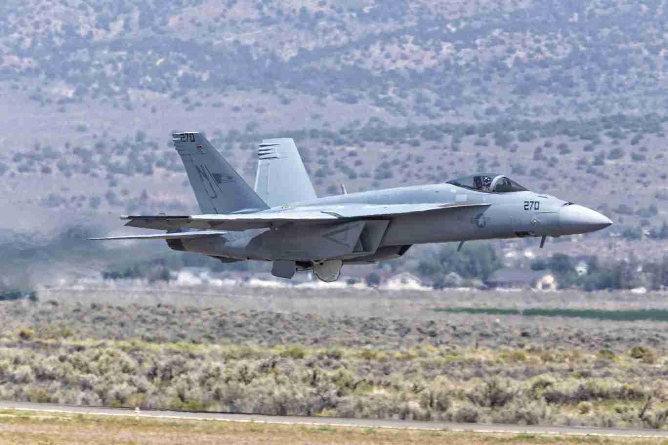 F/A-18 Super Hornet at Low Altitude