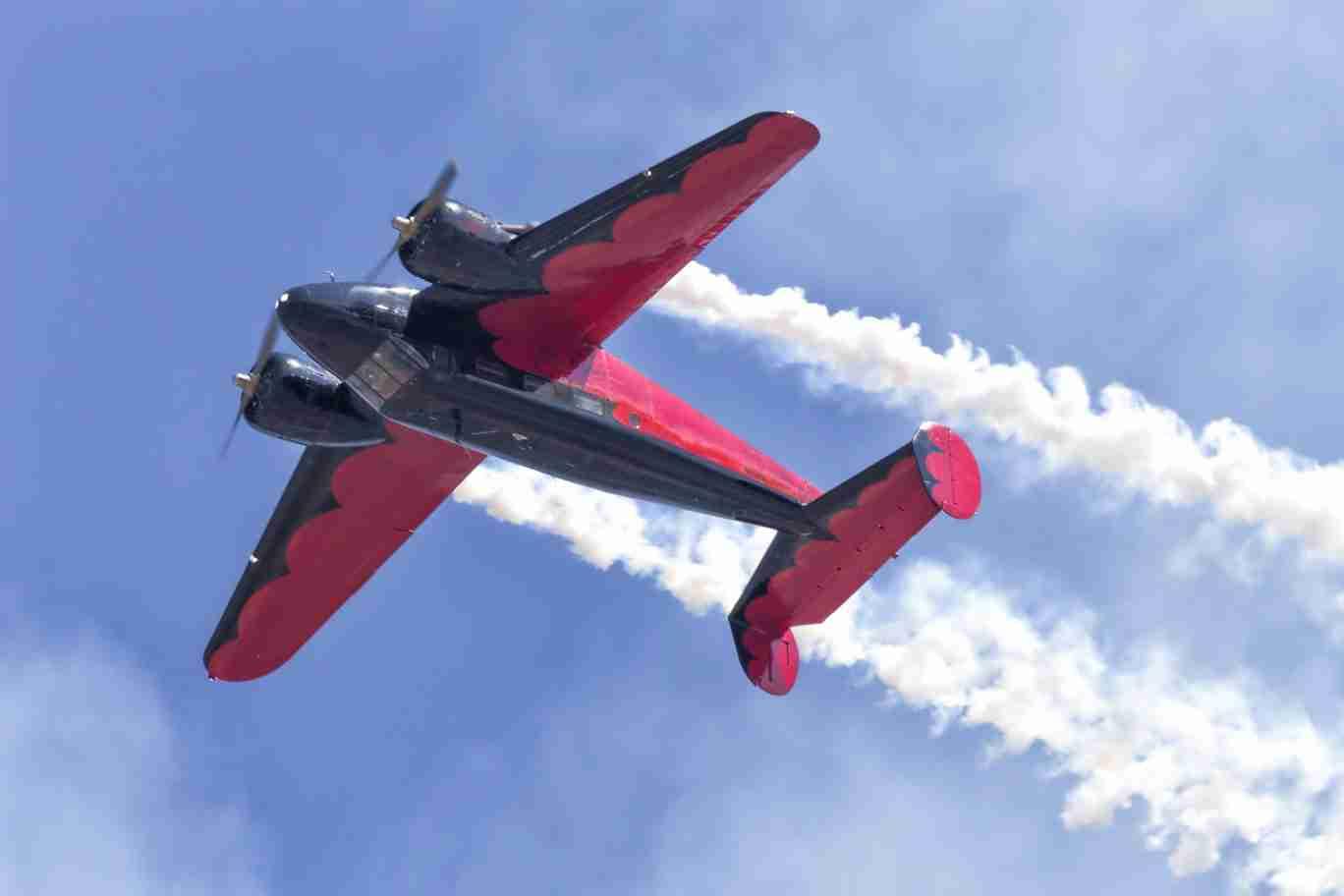 Beech 18 Plane Flying Upside Down