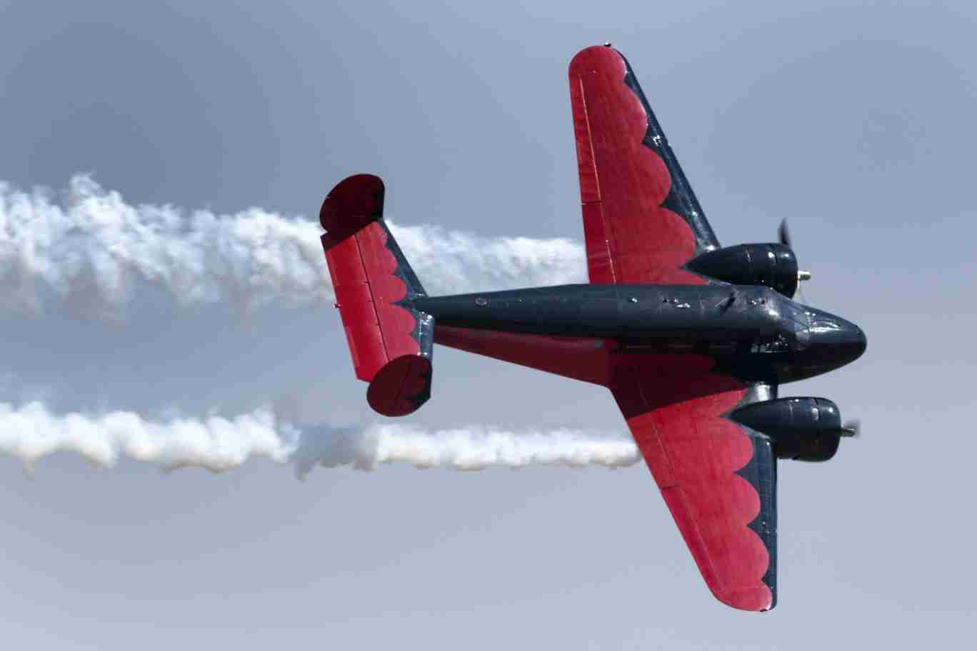 Beech 18 Plane in a Turn