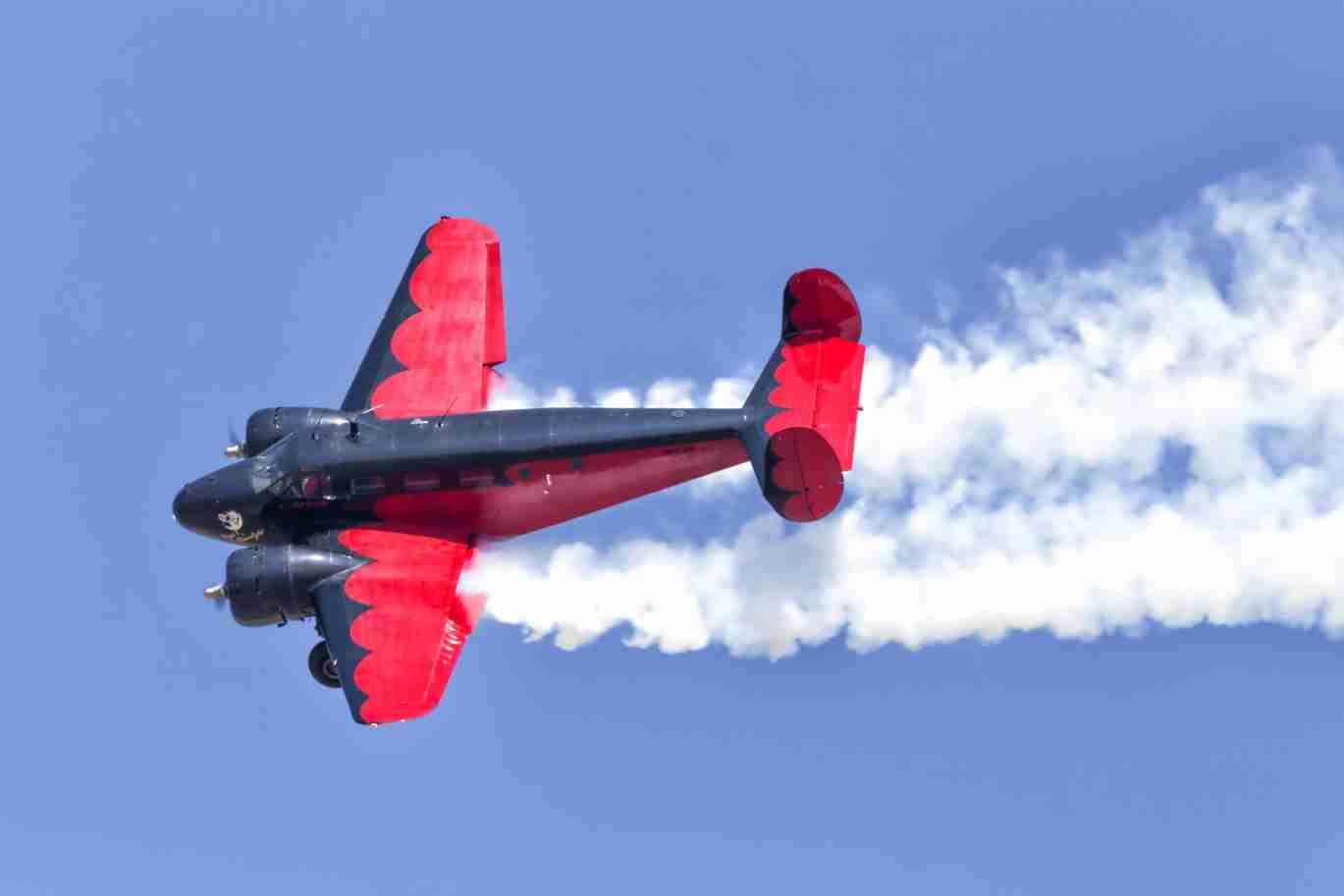 Beech 18 Plane Flying Fast