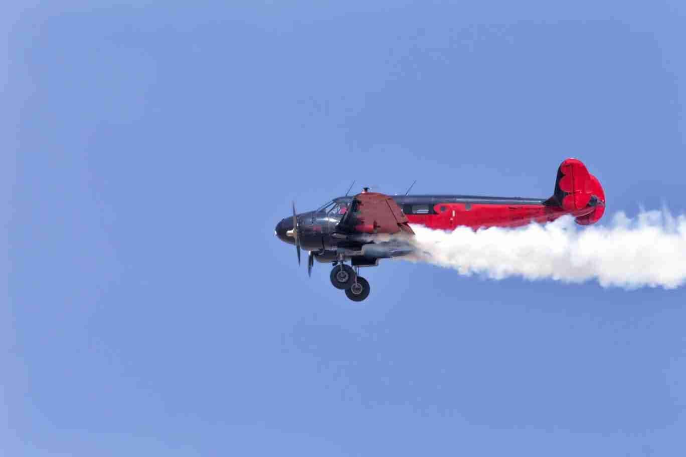 Beech 18 Plane Slowing in Flight