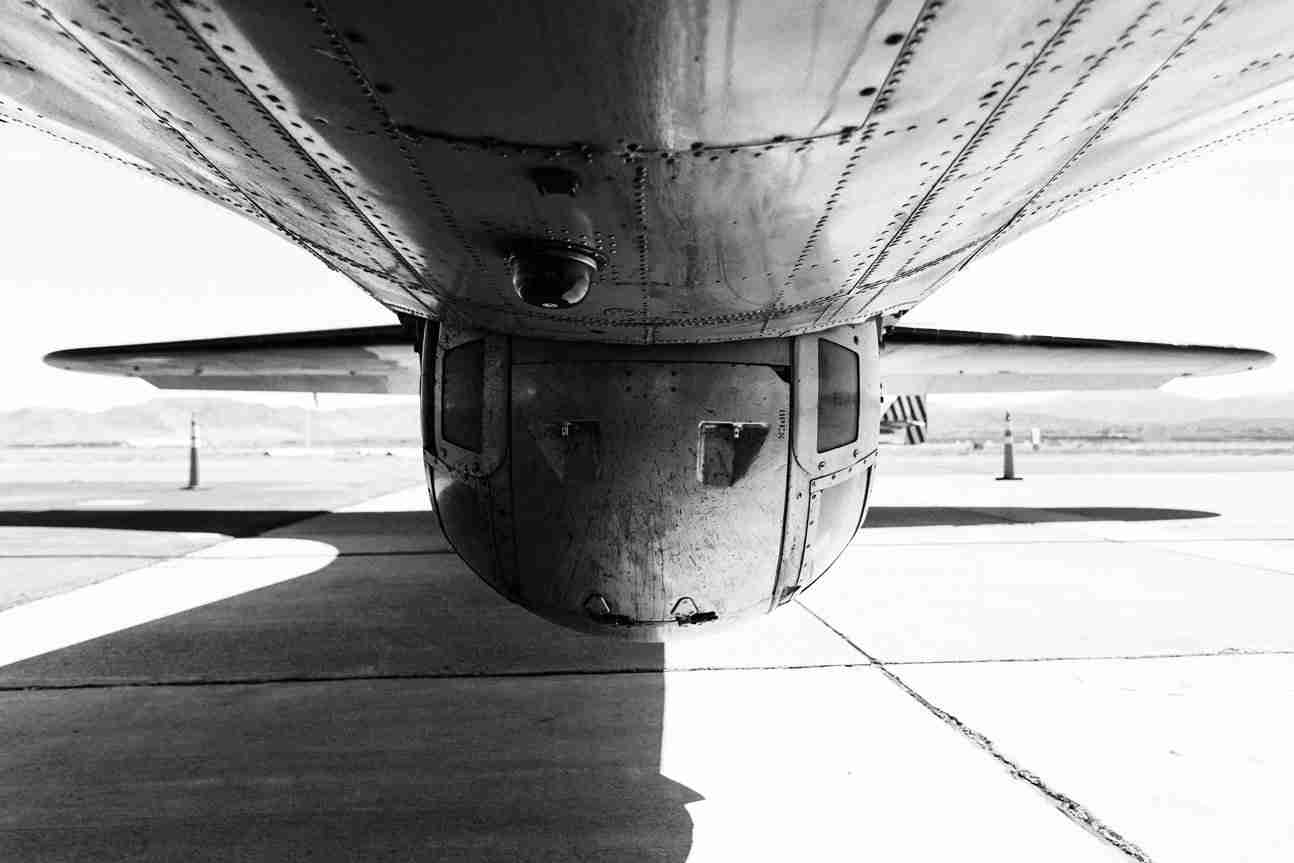 Print of Underbelly of B-17 Flying Fortress